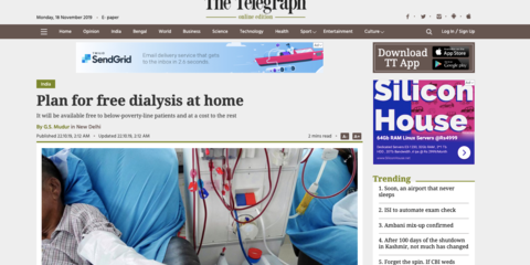 Plan for free dialysis at home