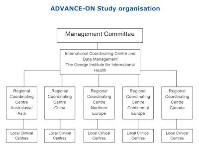Chart showing the study organisation