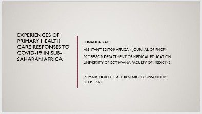 Experiences of primary health care responses to COVID-19 in sub-Saharan Africa